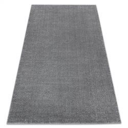 Koberec SOFT 2485 Jednotný jednobarevný šedá