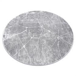 Dywan MEFE nowoczesny Koło 2783 Marmur - Strukturalny, dwa poziomy runa szary
