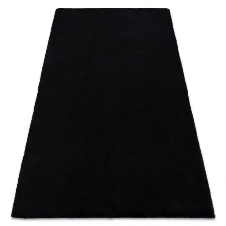 Carpet BUNNY black IMITATION OF RABBIT FUR
