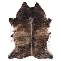 Kobercová umělá hovězí kůže, kráva G4740-1 hnědá kůže