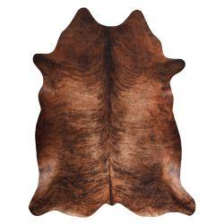 Kobercová umělá hovězí kůže, kráva G5067-3 hnědá kůže
