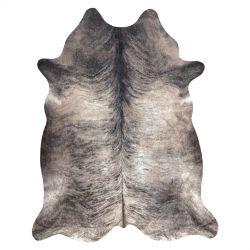 Kobercová umělá hovězí kůže, kráva G5067-4 šedá kůže