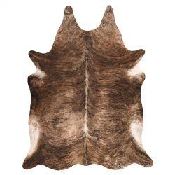 Kobercová umělá hovězí kůže, kráva G5068-1 hnědá kůže