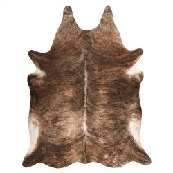 Szőnyeg mesterséges marhabőr, tehén G5068-1 barna bőr