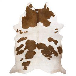Szőnyeg mesterséges marhabőr, tehén G5069-2 fehér barna bőr