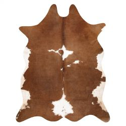 Carpet Artificial Cowhide, Cow G5070-2 brown white Leather