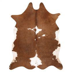 Szőnyeg mesterséges marhabőr, tehén G5070-2 fehér barna bőr