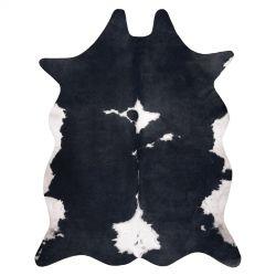Szőnyeg mesterséges marhabőr, tehén G5070-3 fekete fehér bőr