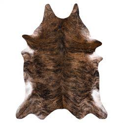 Kobercová umělá hovězí kůže, kráva G5072-1 hnědá kůže