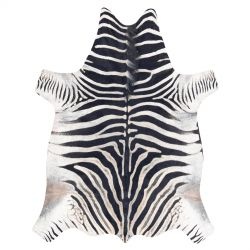 Koberec umělá hovězí kůže Zebra G5128-1, bílá černá kůže
