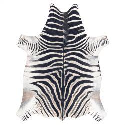 Szőnyeg mesterséges marhabőr, Zebra G5128-1 fehér fekete bőr