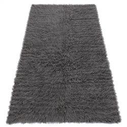 Flokati WOOLEN - Bedcover, Plaid grey