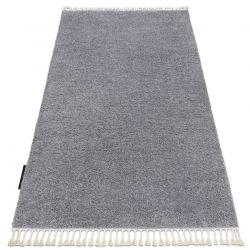 Ковер BERBER 9000 светло-серый бахромой мохнатый