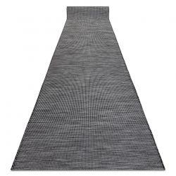 Tapis de couloir en cordes, tissé à plat PATIO Sisal, unicolore, modèle 2778 noir