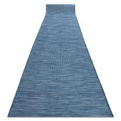 Alfombra de pasillo plano SISAL PATIO diseño uniforme 2778 azul