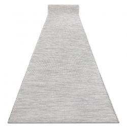 Corredor plano de tecido SISAL PATIO desenho uniforme 2778 cinzento