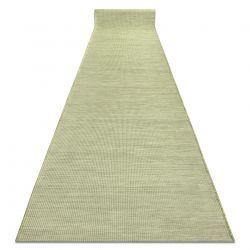 Tapis de couloir en cordes, tissé à plat PATIO Sisal, unicolore, modèle 2778 vert