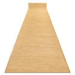 Tapis de couloir en cordes, tissé à plat PATIO Sisal, unicolore, modèle 2778 jaune, or