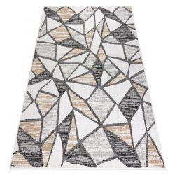 Koberec SISAL COOPER Mozaika 22208 ecru / černý