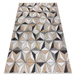 Carpet SISAL COOPER Mosaic, Triangles 22222 ecru / black