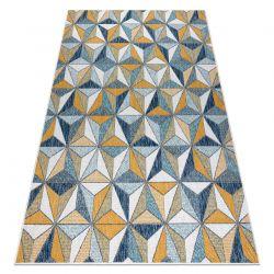 Koberec SISAL COOPER Mozaika, Trojúhelníky 22222 ecru / černý