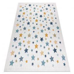 Koberec SISAL COOPER Hvězdy 22260 ecru / tmavě modrá