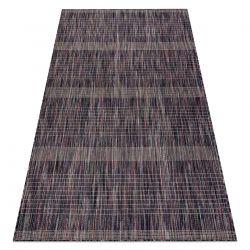 Moderní koberec SIZAL FISY TĚTIVA Pruhy 20777A, hnědý, fialový