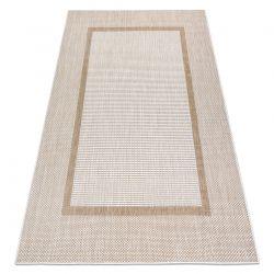 Tapete SIZAL SION Quadro 21782 tecido plano ecru / bege