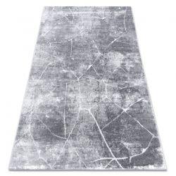 Tapis MEFE moderne 2783 Marbre - Structural deux niveaux de molleton gris foncé