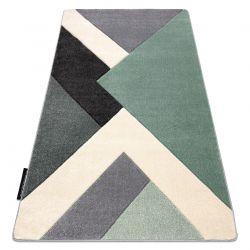 Carpet ALTER Ice Geometric, triangles green / grey
