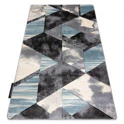 Koberec ALTER Wet Geometrický, trojúhelníky, lichoběžníky trapéz, modrý
