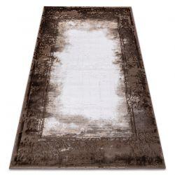 Carpet ACRYLIC VALENCIA 036 FRAME, vintage ivory / brown