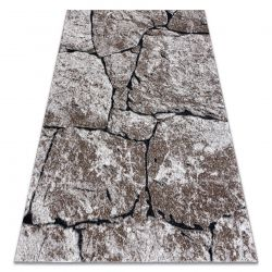 Modern carpet COZY 8985 Brick, paving, stone - structural two levels of fleece brown