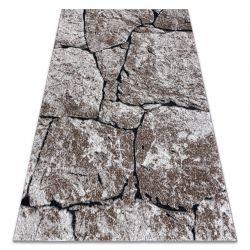 Tapete moderno COZY 8985 Pavimentação tijolo, pedra - Structural dois níveis de lã castanho