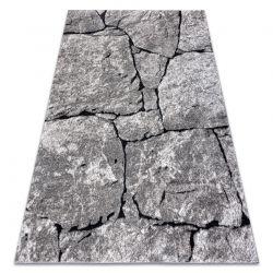 Tapete moderno COZY 8985 Pavimentação tijolo, pedra - Structural dois níveis de lã cinzento