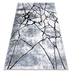 Tapete moderno COZY 8873 Cracks, concreto rachado - Structural dois níveis de lã cinza claro / azul