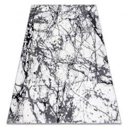 Tapete moderno COZY 8871 Marble, Mármore - Structural dois níveis de lã cinzento