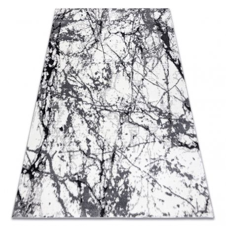 Modern carpet COZY 8871 Marble - structural two levels of fleece grey