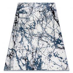 Moderní koberec COZY 8871 Marble, Mramor - Strukturální, dvě úrovně rouna, modrý