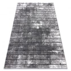 Modern carpet COZY 8654 Raft, Lines - structural two levels of fleece grey