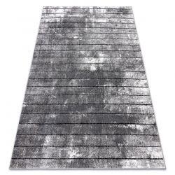 Moderní koberec COZY 8654 Raft, Pásy - Strukturální, dvě úrovně rouna šedá