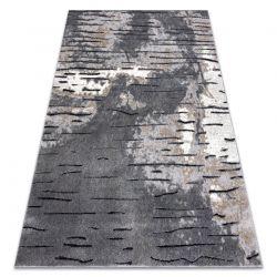 Tapete moderno COZY 8876 Rio - Structural dois níveis de lã cinzento