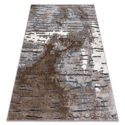 Tapete moderno COZY 8876 Rio - Structural dois níveis de lã castanho