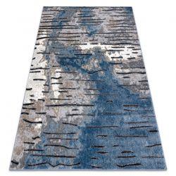 Tapete moderno COZY 8876 Rio - Structural dois níveis de lã azul