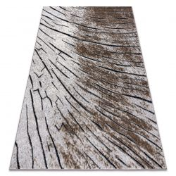 Modern carpet COZY 8874 Timber, wood - structural two levels of fleece brown