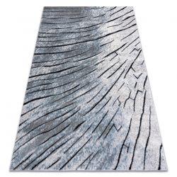 Tapete moderno COZY 8874 Timber, madeira - Structural dois níveis de lã cinzento / azul