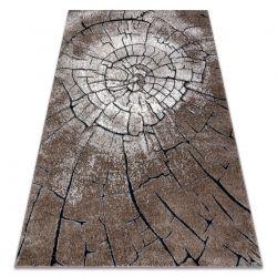 Tapete moderno COZY 8875 Wood, tronco de árvore - Structural dois níveis de lã castanho
