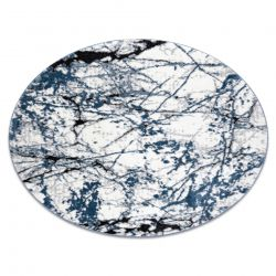 Modern carpet COZY 8871 Circle, Marble - structural two levels of fleece blue