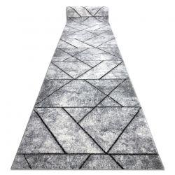 TAPIS DE COULOIR COZY 8872 Wall, géométrique, triangles - Structural deux niveaux de molleton gris / bleu