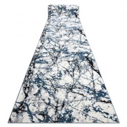 Modern runner COZY 8871 Marble - structural two levels of fleece blue